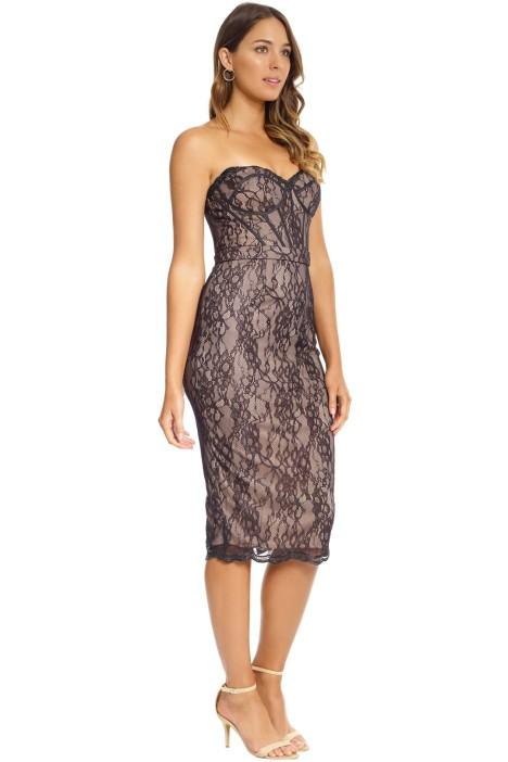 58cca605d4 Jadore - Emilie Corset Dress - Black Nude - Side