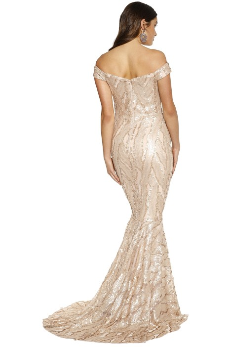 39aa612731 Kayley Gown in Champagne by Jadore for Rent