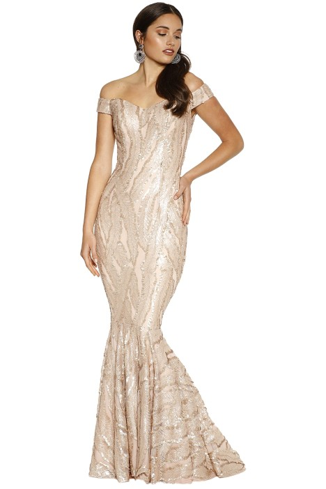 Jadore - Kayley Gown - Champagne - Front