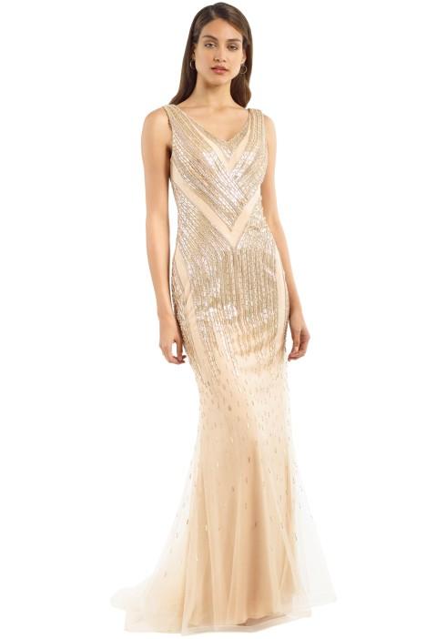 Jadore - J9102 - Bella Gown - Gold - Front