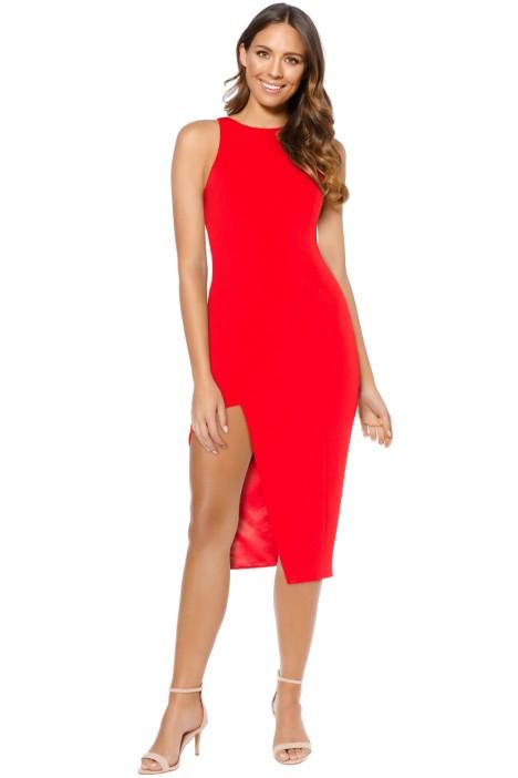 Jay Godfrey - Pine Dress - Red - Front