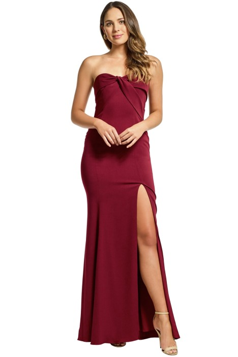 Jay Godfrey - Cambridge Gown - Bordeux - Front
