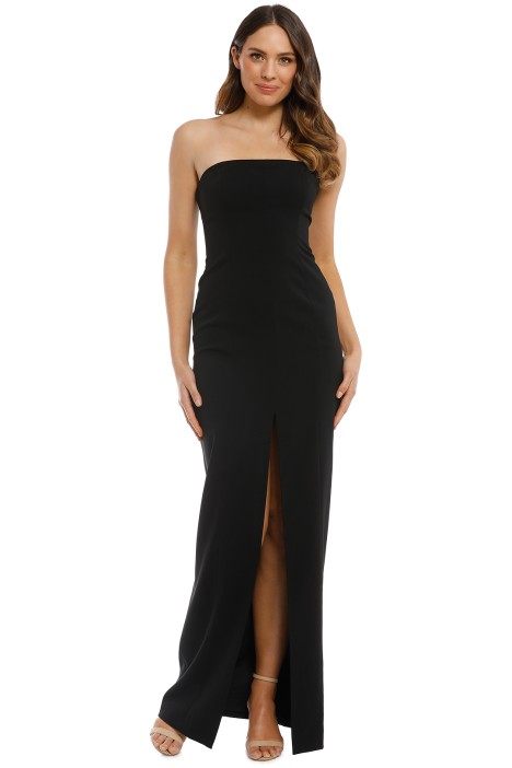 Jay Godfrey - Martell Gown - Black - Front