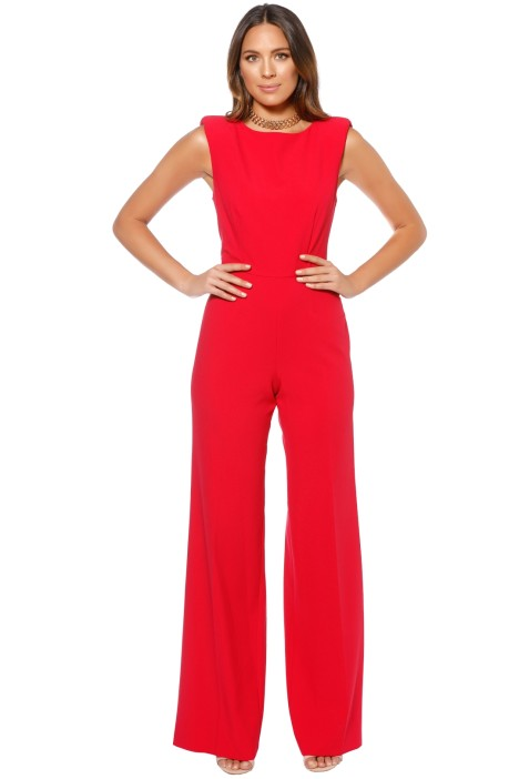 Jay Godfrey - Reese Jumpsuit - Poppy - Front