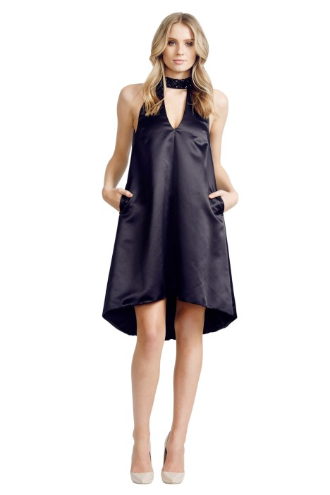 Jayson Brunsdon - A Line Dress - Black - Front