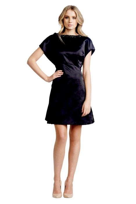 Jayson Brunsdon - Lampshade Dress - Front - Black