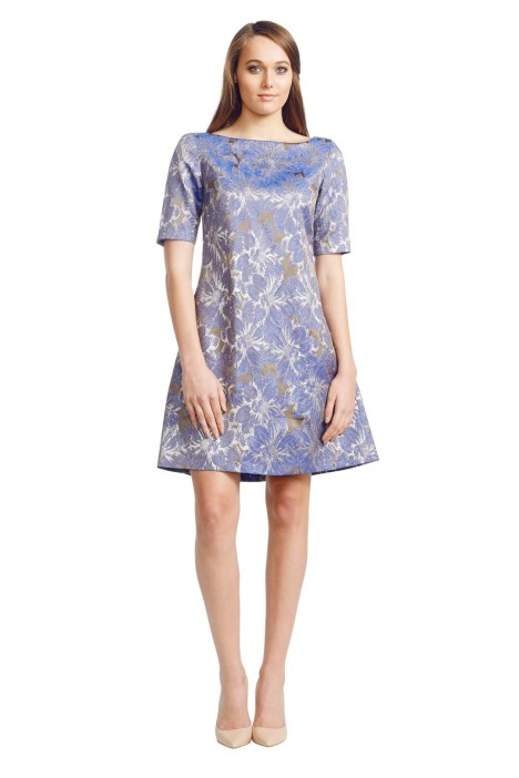 Jayson Brunsdon - Picador Dress - Front - Blue