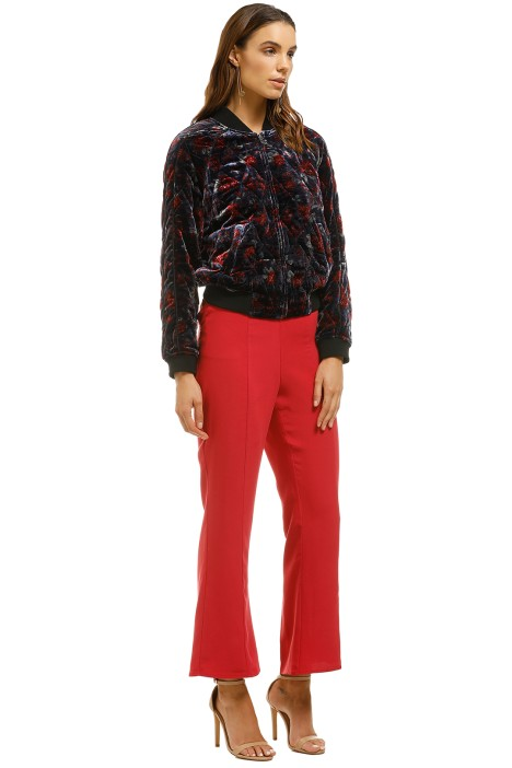 d03dd2d669d Mace Quilted Floral Print Velvet Bomber Jacket by Joie for Rent