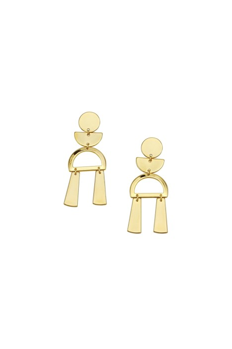 Jolie and Deen - Selma Earrings - Gold - Ghost Front