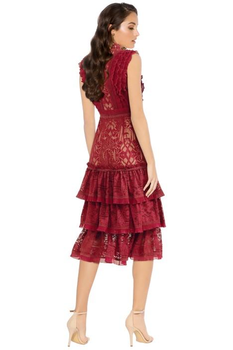 Tower Lace Ruffle Dress By Jonathan Simkhai For Hire