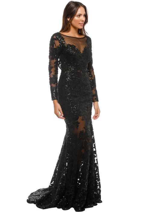 Long Sleeve Lace Dress by Jovani for Rent | GlamCorner