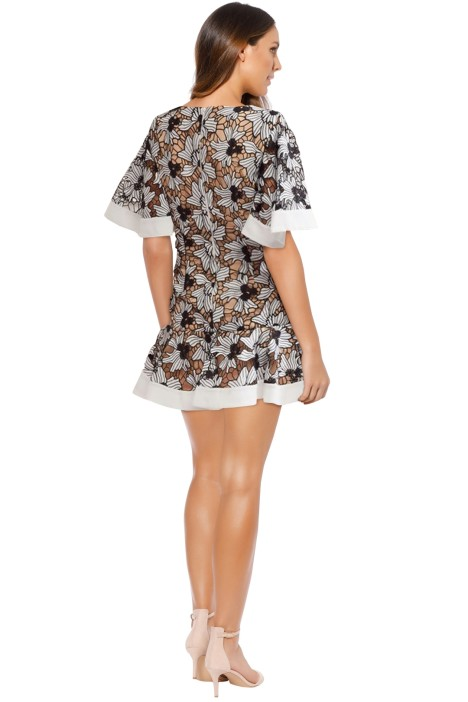 Floral Lace Mini Dress - Ivory Keepsake the Label