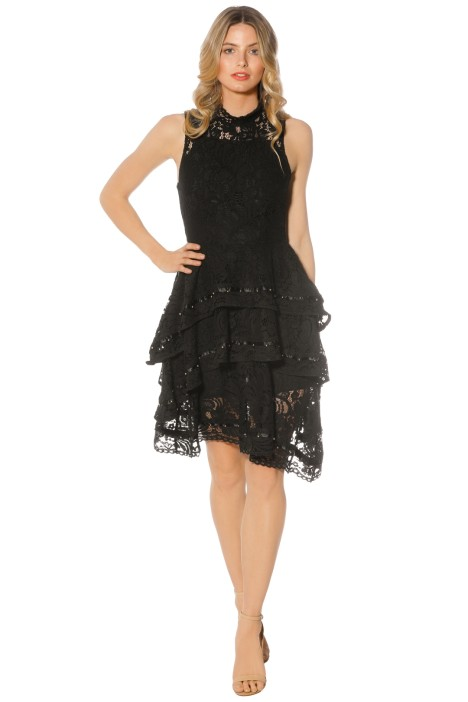 Keepsake - Star Crossed Lace Dress - Black - Front