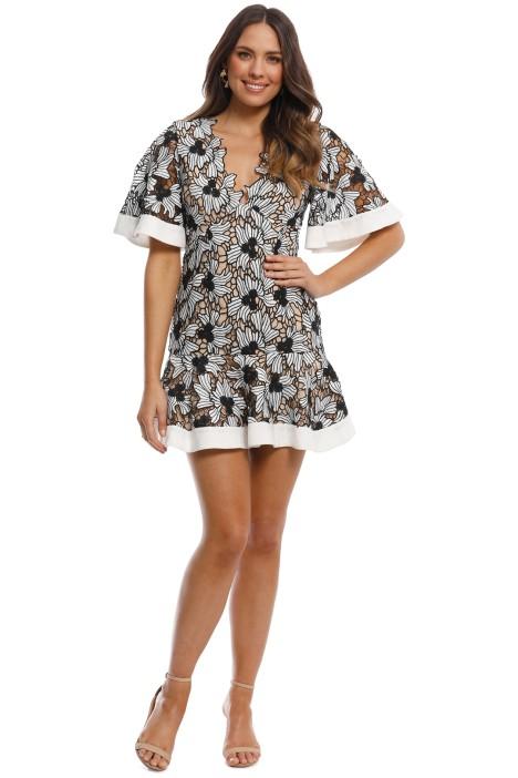 Keepsake the Label - Break Free Lace Mini Dress - Ivory - Front