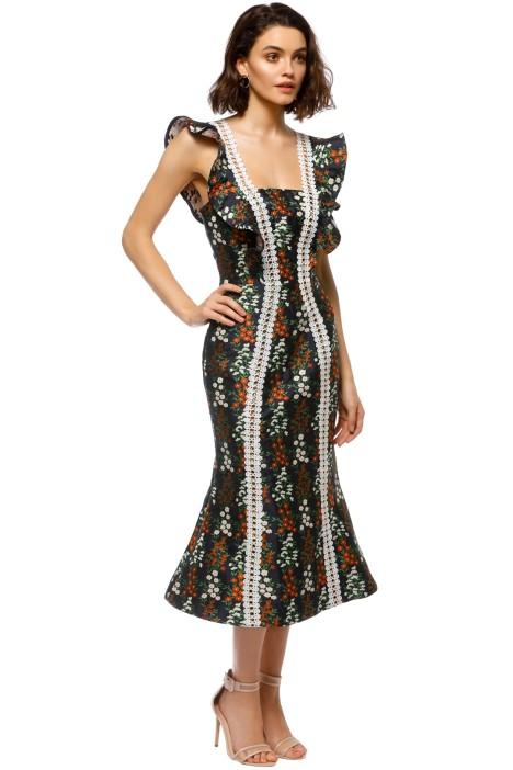 7c99744e9961 Keepsake The Label - Faithful Midi Dress - Navy Floral - Side