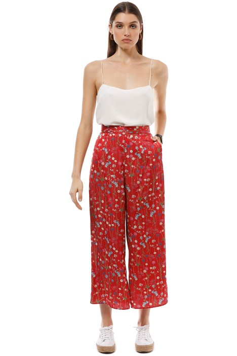 Keepsake the Label - Hold Back Pant - Scarlet Floral - Front