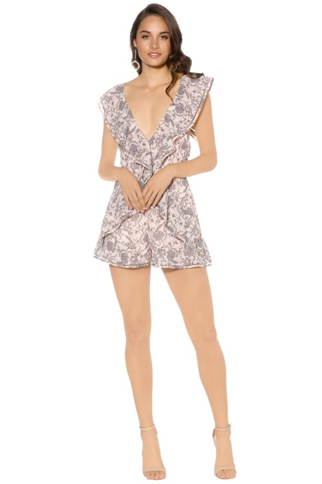 Keepsake - Lovers Holiday Playsuit - Wallpaper Floral - Front