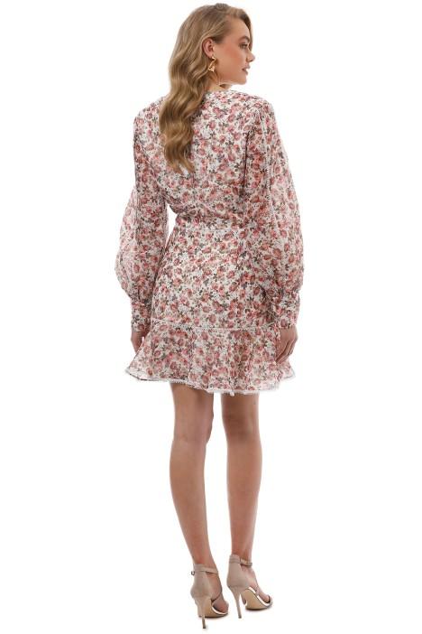340d57afc855 Keepsake the Label - One Love LS Mini Dress - Ivory Floral - Back