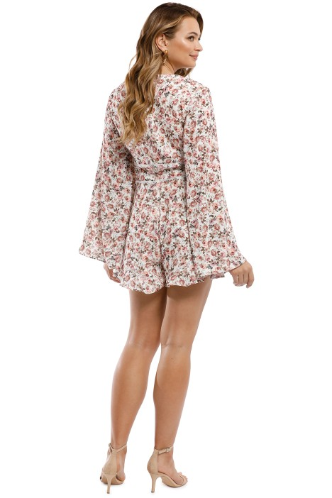 8db6a8954a692 Keepsake the Label - One Love Playsuit - Ivory Rose Floral - Back