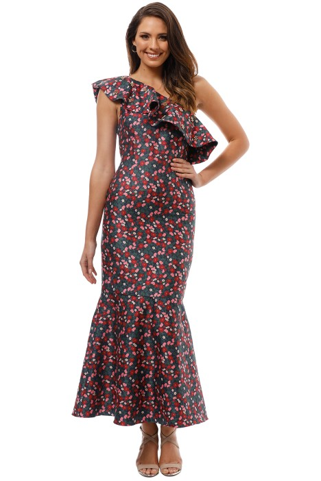Keepsake The Label - Starlight Gown - Navy Print - Front