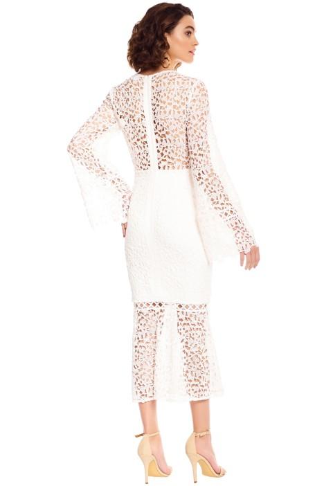 3abc077f5760 Keepsake the Label - Uplifted LS Midi Dress - White - Back