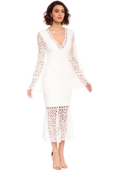 418b24c82f2a Keepsake the Label - Uplifted LS Midi Dress - White - Side