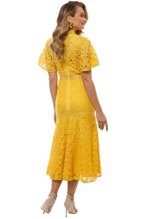 cacae510bc6e Keepsake the Label - Utopia Lace Midi Dress - Golden Yellow - Back