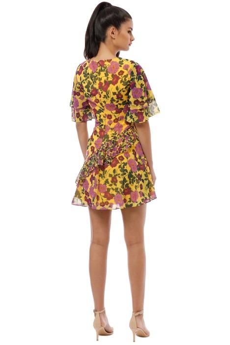 7f5dd8d030cfc Keepsake the Label - Waves Mini Dress - Golden Floral - Back