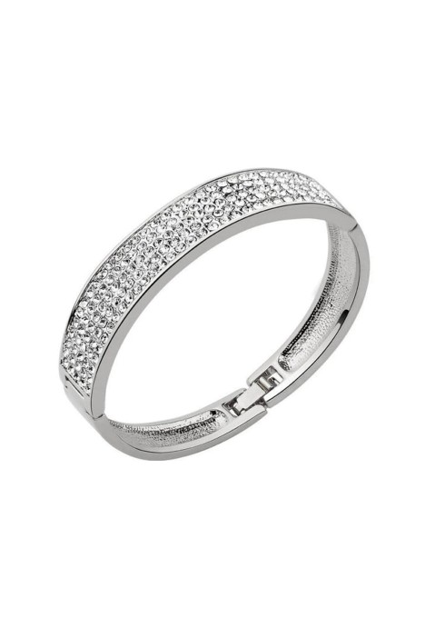 Krystal Couture - Classic Bangle - Silver - Side