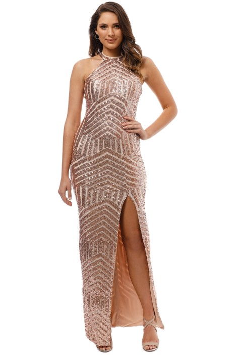 L'Amour - Diana Halter Gown - Blush - Front