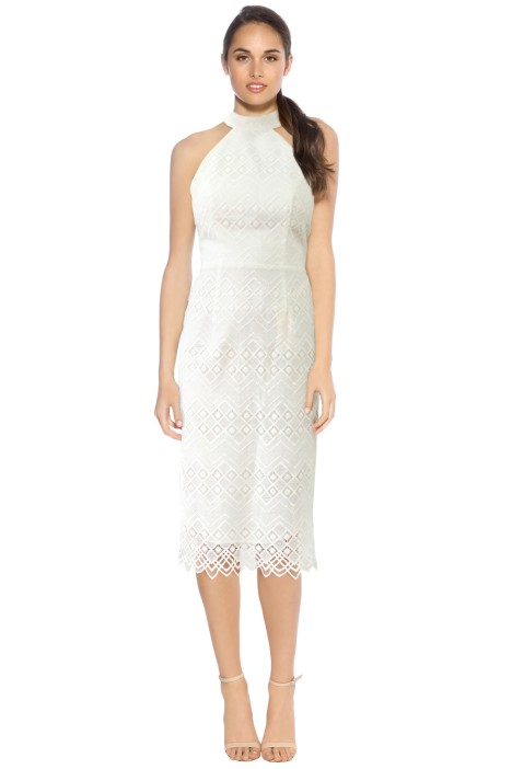 L'amour - Marisol Lace Midi Dress - White - Front