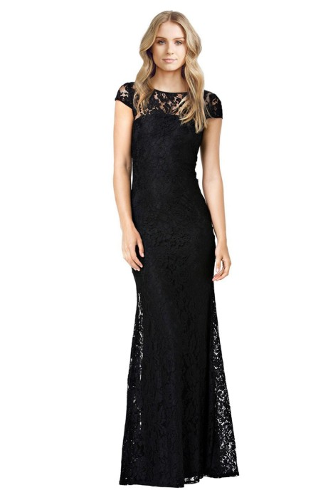 Langhem - Elisa Formal Gown - Black - Front