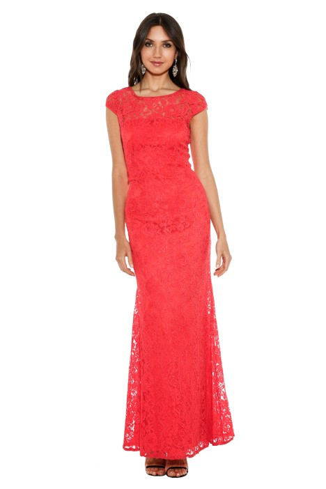 Langhem - Red Elisa Evening Gown - Front