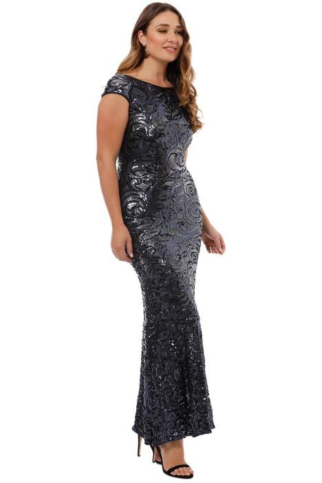 9c2c96b0a545 Langhem - Katia Sparkle Gown - Navy - Side