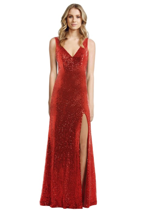 Langhem - Love on Top Red Gown - Front