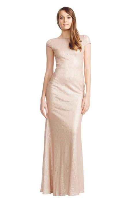 Langhem - Sadie Gown - Front - Pink