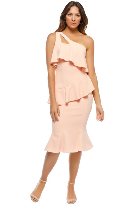 Leo & Lin - Orange Mermaid Dress - Pink - Front