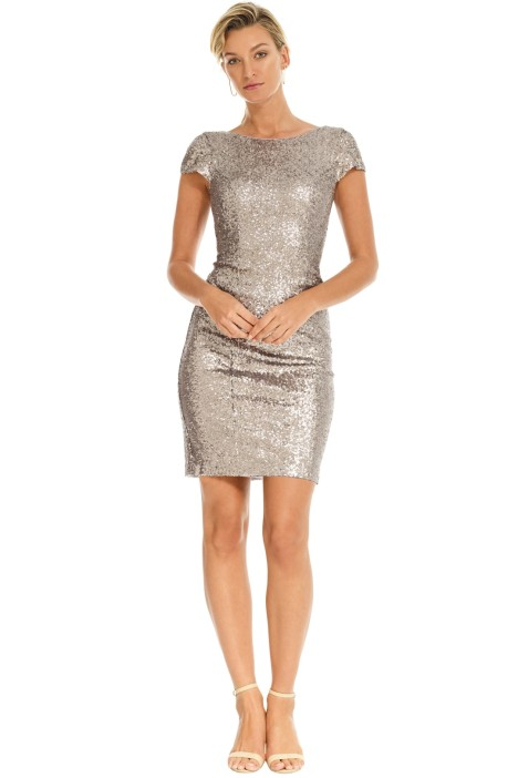Pewter Knee Length Dress