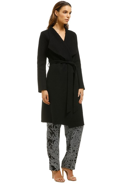 d69471f11b Meghan Brushed Cotton and Wool Blend Coat in Black by Line for Rent