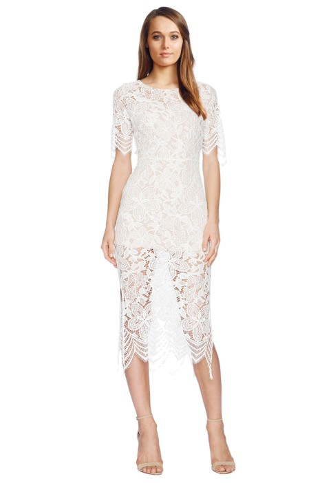 For Love and Lemons - Luna Maxi Dress - Front - White