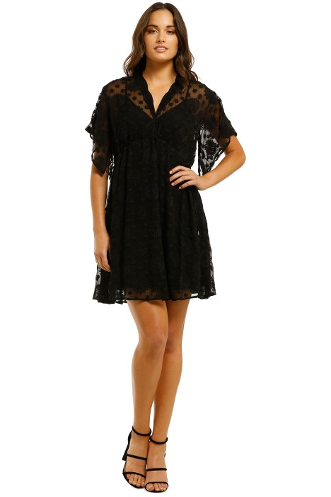 Lover-Dandelion-Mini-Dress-Black-Front