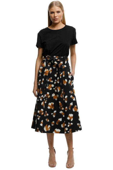 Lover-Feline-Midi-Skirt-Black-Front