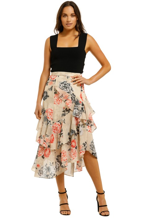 Lover-Painterly-Floral-Midi-Skirt-Bone-Front