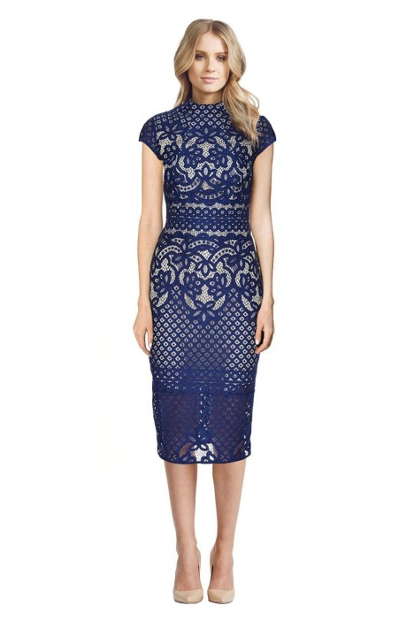 Lover - Libra Dress - Blue Lace - Front