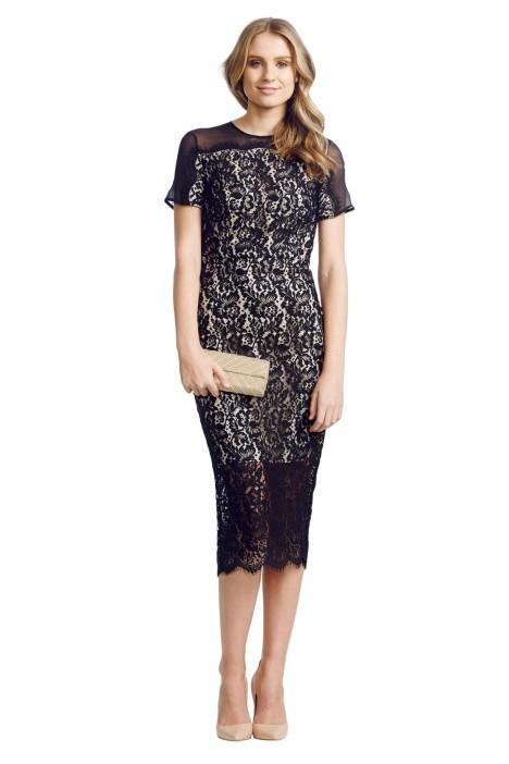 Lover - Midi Crescent Dress - Black - Front