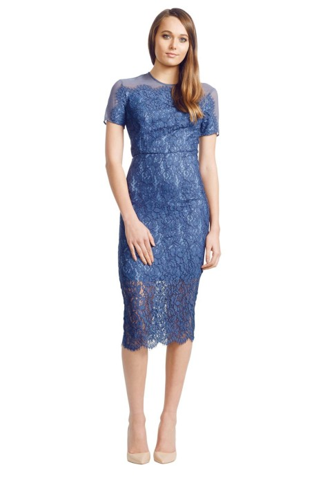 Lover - Midi Crescent Dress - Blue - Front