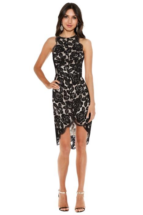 Lover - Rosebud Lace Knit Halter Dress - Front