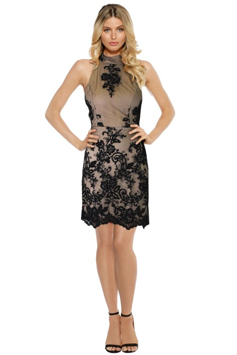 LUOM.O - Caprice Lace Halter Dress - Front