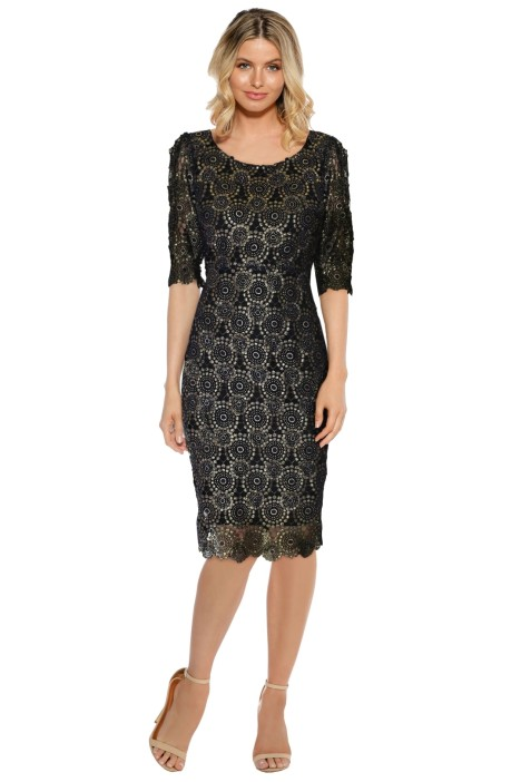 LUOM.O - High Society Dress - Black Lace - Front