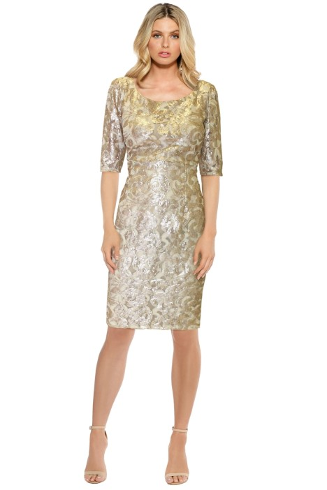 LUOM.O - Irene Dress - Gold Lace - Front